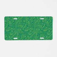 Green Circuit Board Aluminum License Plate