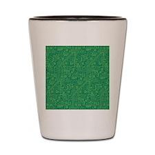 Green Circuit Board Shot Glass
