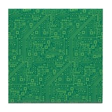 Green Circuit Board Tile Coaster
