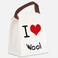 I love Wool Canvas Lunch Bag
