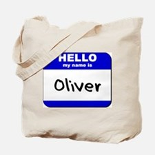 hello my name is oliver Tote Bag