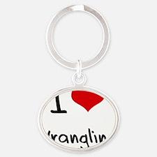 I love Wrangling Oval Keychain