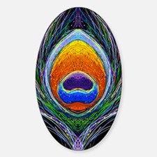 peacock feather 1 Sticker (Oval)