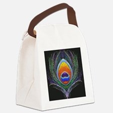peacock feather 1 Canvas Lunch Bag