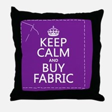 Keep Calm and Buy Fabric Throw Pillow