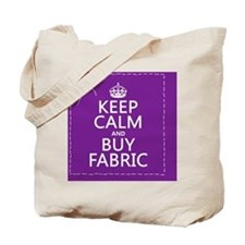 Keep Calm and Buy Fabric Tote Bag