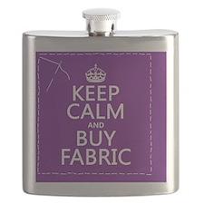 Keep Calm and Buy Fabric Flask