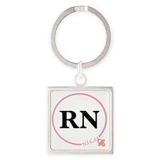NICU RN Square Keychain