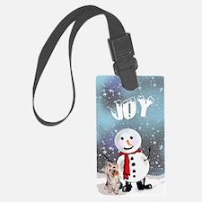 Yorkie Christmas Luggage Tag