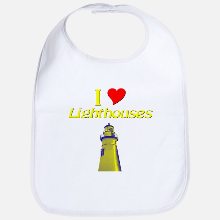 beach island cape lighthouse Bib
