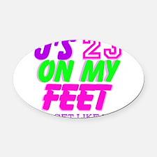 JS Oval Car Magnet
