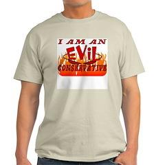 Evil Conservative (VRWC) Ash Grey T-Shirt