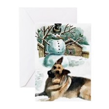 German Shepherd Christmas Greeting Cards