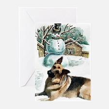 German Shepherd Christmas Greeting Cards