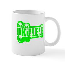 hawaiian ukulele uke palm tree design Mugs