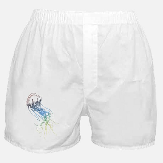 colorful jellyfish drawing Boxer Shorts