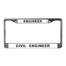 Civil Engineer License Plate Frame