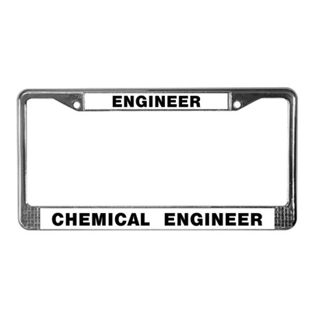 Chemical Engineer License Plate Frame