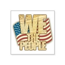 "We The People Square Sticker 3"" x 3"""