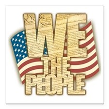 """We The People Square Car Magnet 3"""" x 3"""""""