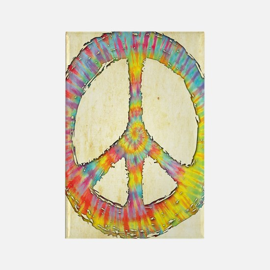 tiedye-peace-713-LG Rectangle Magnet