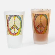 tiedye-peace-713-LG Drinking Glass