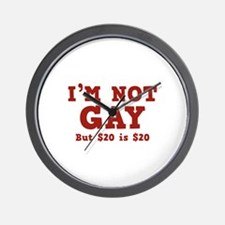 I'm Not Gay Wall Clock
