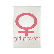 Girl Power Light Pink Rectangle Magnet