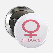 """Girl Power Light Pink 2.25"""" Button (10 pack)"""
