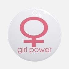 Girl Power Light Pink Ornament (Round)