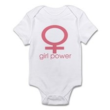 Girl Power Light Pink Infant Bodysuit