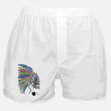 Colorful Native American Headdress Boxer Shorts