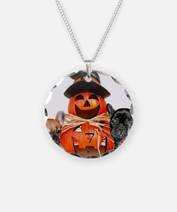 Halloween French Bulldogs Necklace