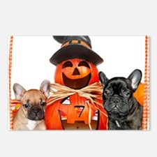 Halloween French Bulldogs Postcards (Package of 8)