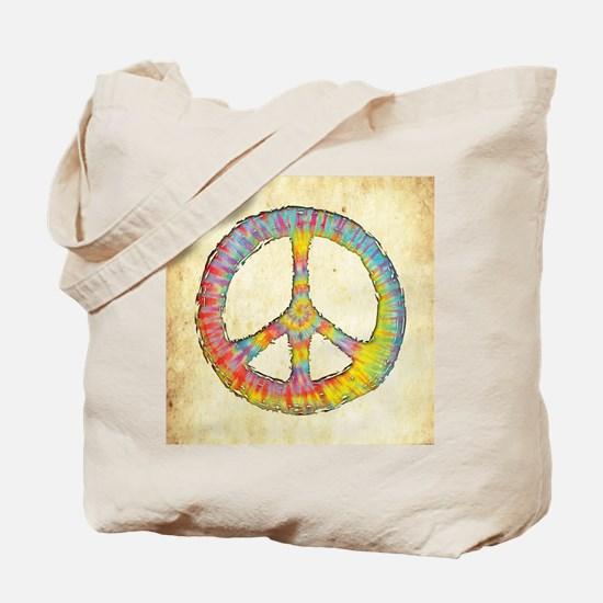 tiedye-peace-713-BUT Tote Bag