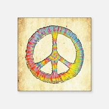 "tiedye-peace-713-BUT Square Sticker 3"" x 3"""