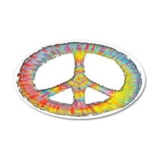 tiedye-peace-713-OV-HAT 35x21 Oval Wall Decal