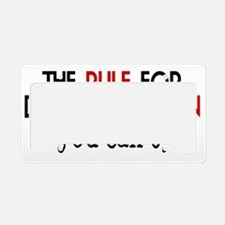 SonDatingRule License Plate Holder