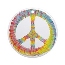 tiedye-peace-713-DKT Round Ornament