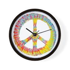 tiedye-peace-713-DKT Wall Clock