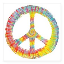 "tiedye-peace-713-DKT Square Car Magnet 3"" x 3"""