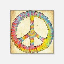 """tiedye-peace-713-PLLO Square Sticker 3"""" x 3"""""""