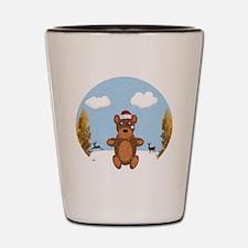 Christmas Brown Bear Shot Glass
