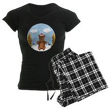 Christmas Brown Bear Pajamas