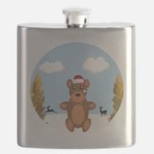 Christmas Brown Bear Flask