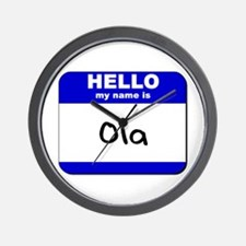 hello my name is ola  Wall Clock