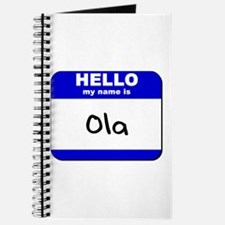 hello my name is ola Journal