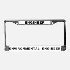 Environmental Engineer License Plate Frame