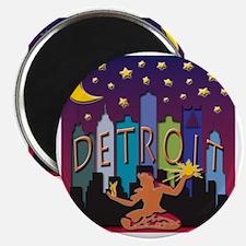Detroit Skyline Mega Color Magnet