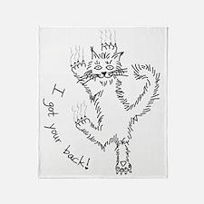 kitty_back_dark Throw Blanket